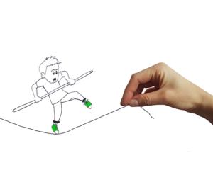 equilibrista disegno